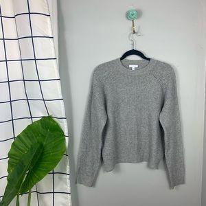 Abound Gray Waffle Knit Crewneck Sweater